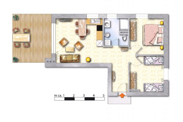 Dreamy apartments Austria: Floorplan App3 (75sqm)